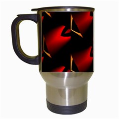 Fractal Background Red And Black Travel Mugs (White)