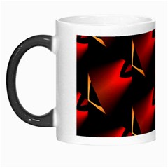 Fractal Background Red And Black Morph Mugs