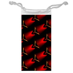 Fractal Background Red And Black Jewelry Bag