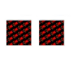 Fractal Background Red And Black Cufflinks (square)