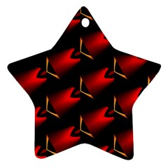 Fractal Background Red And Black Star Ornament (two Sides)
