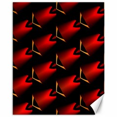Fractal Background Red And Black Canvas 11  X 14