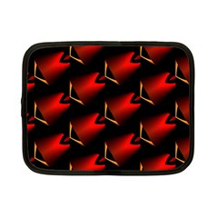 Fractal Background Red And Black Netbook Case (small)