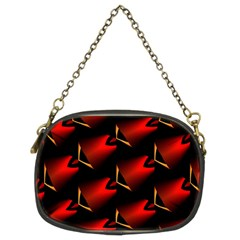 Fractal Background Red And Black Chain Purses (two Sides)