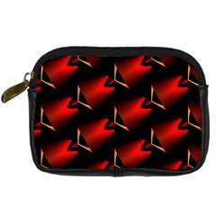 Fractal Background Red And Black Digital Camera Cases