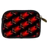 Fractal Background Red And Black Digital Camera Cases Back