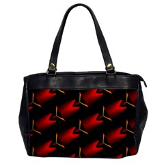 Fractal Background Red And Black Office Handbags