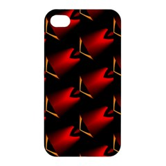 Fractal Background Red And Black Apple iPhone 4/4S Hardshell Case