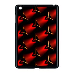 Fractal Background Red And Black Apple iPad Mini Case (Black)