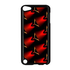 Fractal Background Red And Black Apple iPod Touch 5 Case (Black)