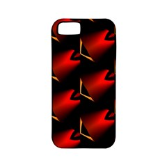Fractal Background Red And Black Apple iPhone 5 Classic Hardshell Case (PC+Silicone)