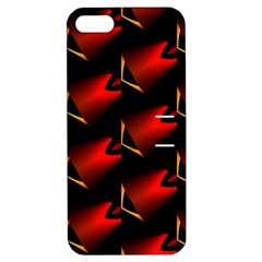 Fractal Background Red And Black Apple Iphone 5 Hardshell Case With Stand
