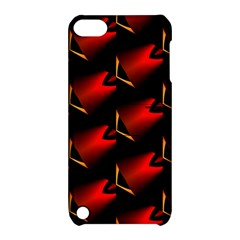 Fractal Background Red And Black Apple iPod Touch 5 Hardshell Case with Stand