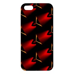 Fractal Background Red And Black Apple Iphone 5 Premium Hardshell Case