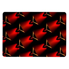 Fractal Background Red And Black Samsung Galaxy Tab 10.1  P7500 Flip Case