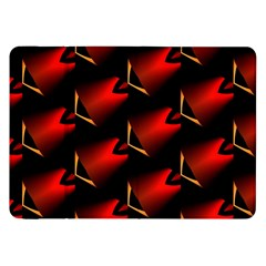 Fractal Background Red And Black Samsung Galaxy Tab 8 9  P7300 Flip Case