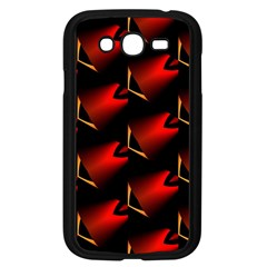 Fractal Background Red And Black Samsung Galaxy Grand DUOS I9082 Case (Black)
