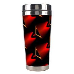 Fractal Background Red And Black Stainless Steel Travel Tumblers