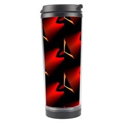 Fractal Background Red And Black Travel Tumbler