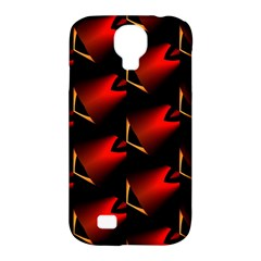 Fractal Background Red And Black Samsung Galaxy S4 Classic Hardshell Case (pc+silicone)