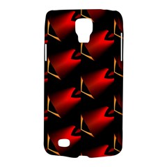Fractal Background Red And Black Galaxy S4 Active
