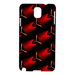 Fractal Background Red And Black Samsung Galaxy Note 3 N9005 Hardshell Case