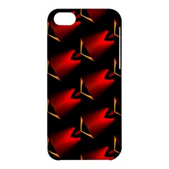 Fractal Background Red And Black Apple iPhone 5C Hardshell Case