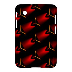 Fractal Background Red And Black Samsung Galaxy Tab 2 (7 ) P3100 Hardshell Case