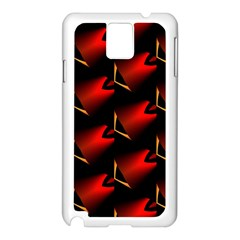 Fractal Background Red And Black Samsung Galaxy Note 3 N9005 Case (White)