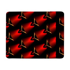 Fractal Background Red And Black Samsung Galaxy Tab Pro 8 4  Flip Case