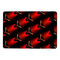 Fractal Background Red And Black Samsung Galaxy Tab Pro 10 1  Flip Case