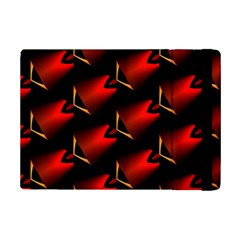 Fractal Background Red And Black iPad Mini 2 Flip Cases