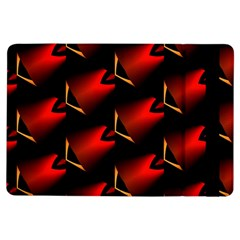 Fractal Background Red And Black iPad Air Flip