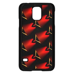 Fractal Background Red And Black Samsung Galaxy S5 Case (black)