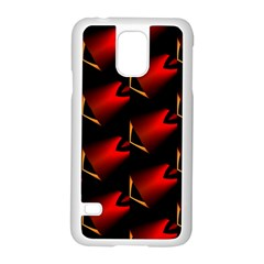 Fractal Background Red And Black Samsung Galaxy S5 Case (White)