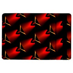 Fractal Background Red And Black iPad Air 2 Flip