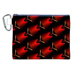 Fractal Background Red And Black Canvas Cosmetic Bag (XXL)