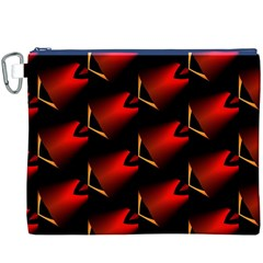 Fractal Background Red And Black Canvas Cosmetic Bag (xxxl)