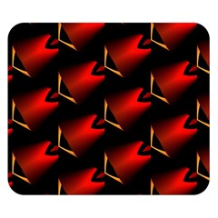 Fractal Background Red And Black Double Sided Flano Blanket (small)