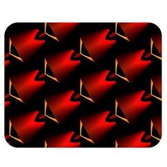 Fractal Background Red And Black Double Sided Flano Blanket (Medium)