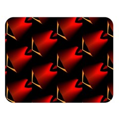 Fractal Background Red And Black Double Sided Flano Blanket (large)