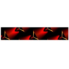 Fractal Background Red And Black Flano Scarf (large)