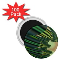 A Feathery Sort Of Green Image Shades Of Green And Cream Fractal 1.75  Magnets (100 pack)