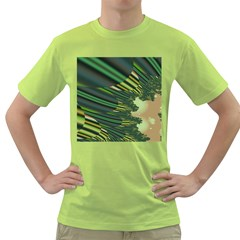 A Feathery Sort Of Green Image Shades Of Green And Cream Fractal Green T-Shirt