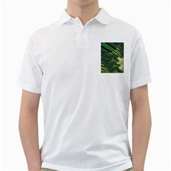 A Feathery Sort Of Green Image Shades Of Green And Cream Fractal Golf Shirts