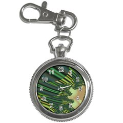 A Feathery Sort Of Green Image Shades Of Green And Cream Fractal Key Chain Watches