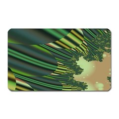 A Feathery Sort Of Green Image Shades Of Green And Cream Fractal Magnet (Rectangular)