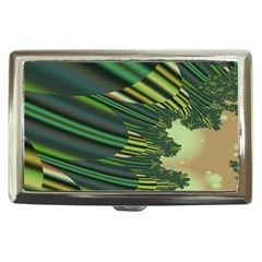 A Feathery Sort Of Green Image Shades Of Green And Cream Fractal Cigarette Money Cases