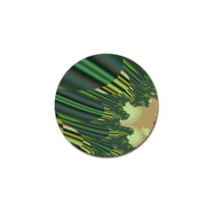 A Feathery Sort Of Green Image Shades Of Green And Cream Fractal Golf Ball Marker (10 Pack)
