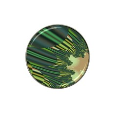 A Feathery Sort Of Green Image Shades Of Green And Cream Fractal Hat Clip Ball Marker (4 Pack)
